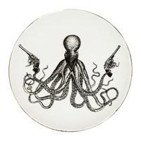 Rory Dobner Perfect Plates Omar The Outlaw Octopus Black And White