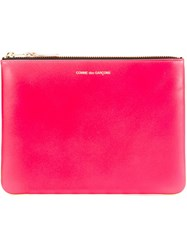 Comme Des Garcons Wallet 'New Super Fluo' Pouch Pink And Purple