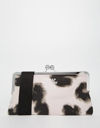 Cheap Monday Smudgy Leopard Wallet Clutch Bag With Detachable Strap Multi