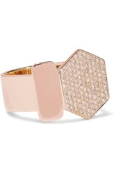 Lito Infinite 14 Karat Rose And Yellow Gold Diamond Ring Rose Gold