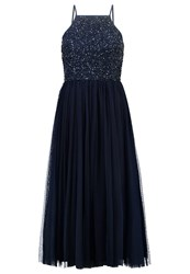 Lace And Beads Summer Dress Navy Dark Blue