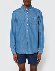 Obey Keble Ii Woven Ls Shirt Light Blue