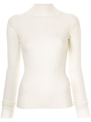 Y's Ribbed Jumper White