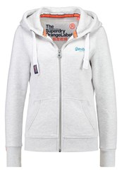 Superdry Tracksuit Top Ice Marl Off White