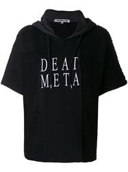 Mcq By Alexander Mcqueen Embroidered Death Metal Hoodie Cotton Acrylic Polyester M Black