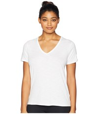 Tasc Performance St. Charles V Neck Short Sleeve Tee White T Shirt