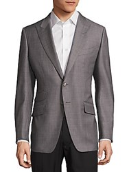 Tom Ford Textured Wool Jacket Grey