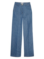 Valentino High Waisted Wide Leg Jeans