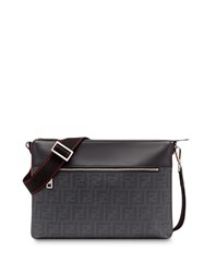 Fendi Ff Logo Messenger Bag Black