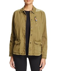 Scotch And Soda Ikat Embroidered Military Jacket Army