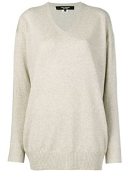 Junya Watanabe V Neck Jumper Nude And Neutrals