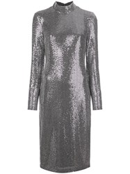 Badgley Mischka Metallic Midi Dress 60