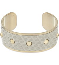 Aspinal Of London Athena Medium Python Bangle Grey