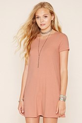 Forever 21 Ribbed Knit T Shirt Dress