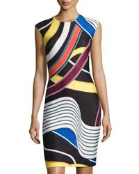 Catherine Malandrino Graphic Print Midi Sheath Multi Pattern