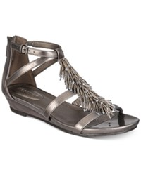 Kenneth Cole Reaction Women's Great Fringe Wedge Sandals Women's Shoes Pewter