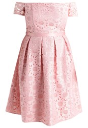 Chi Chi London Curvy Julia Cocktail Dress Party Dress Pink