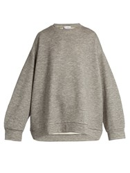 Raey Crew Neck Cashmere Blend Sweatshirt Grey