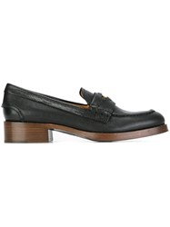 Car Shoe Penny Loafers Black