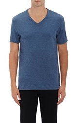 Theory Men's Gaskell Cotton V Neck T Shirt Light Blue