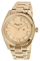 Kenneth Cole Textured Dial Bracelet Watch 36Mm Gold