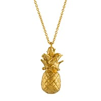 Alex Monroe Long Pineapple Pendant Necklace Gold