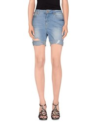 Noisy May Denim Denim Bermudas Women Blue