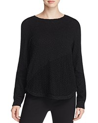 Xcvi Sofia Crochet Inset Sweater Black