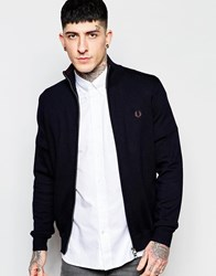 Fred Perry Cardigan With Zip Up Navy
