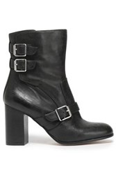 Belstaff Buckled Leather Ankle Boots Black