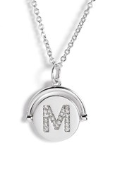 Lulu Dk Women's Love Letters Initial Spinning Pendant Necklace Silver M