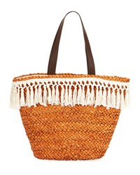 San Diego Hat Company Cornhusk Fringy Tote Bag Neutral Pattern
