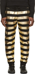 Versus Black And Gold Striped Lounge Pants
