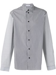 J.W.Anderson Appliqued Striped Shirt Blue