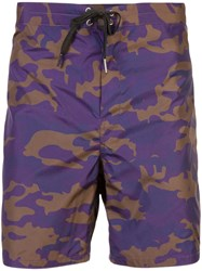 Cynthia Rowley Benny Board Shorts Pink And Purple