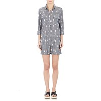 Fabric Hunted And Collected Ikat Romper Gry Wht Flwr