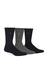 Polo Ralph Lauren Assorted Cushioned Crew Socks Pack Of 3