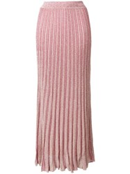 Missoni Long Knitted Skirt Pink