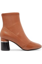 3.1 Phillip Lim Drum Leather Ankle Boots Light Brown