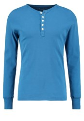 Knowledge Cotton Apparel Long Sleeved Top Deep Water Light Blue