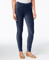 Style And Co Petite Corduroy Leggings Created For Macy's Industrial Blue