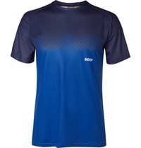 Soar Running Two Tone Mesh T Shirt Blue