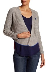 Zadig And Voltaire Monday Pointelle Cashmere Cardigan Brown