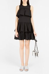 Msgm Women S Tiered Ruffle Dress Boutique1 Black