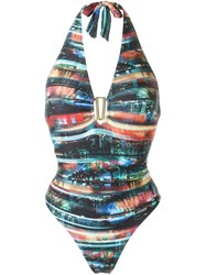 Lygia And Nanny Halter Neck Swimsuit Multicolour