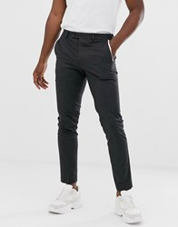 Jack And Jones Premium Skinny Fit Tipped Pocket Suit Trousers In Grey