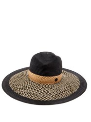 Maison Michel Pina Woven Straw Hat Navy