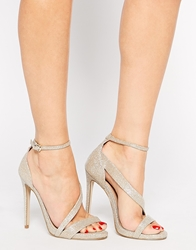 Carvela Gosh Gold Heeled Strap Sandals