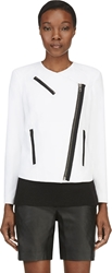 Helmut Lang White Sugar Moto Jacket