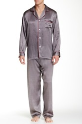 Majestic Wesley Silk Pajama Set Gray